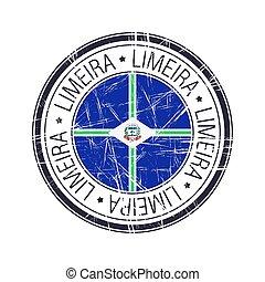 City of Limeria, Brazil vector stamp