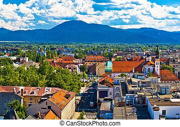 City of Ljubljana panoramic view