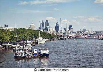 City of London and River Thames.
