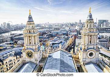 City of London and St. Paul`s Cathe
