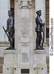 City of London, First World War Memorial, UK
