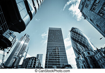 City of London - Skyscrapers in City of London,( Lloyds of...