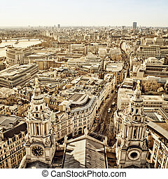 City of London view from St. Paul`s Cathedral