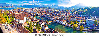 City of Luzern panoramic aerial view