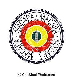 City of Macapa, Brazil vector stamp