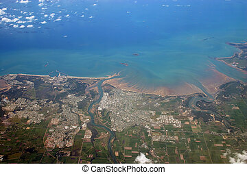 City of Mackay Aerial photo - An aerial view of the city of...