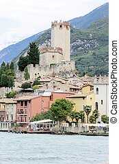 Malcesine - City of Malcesine on Garda lake in Italy