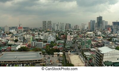 City of Manila, the capital of the Philippines with modern...