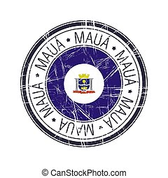 City of Maua, Brazil vector stamp
