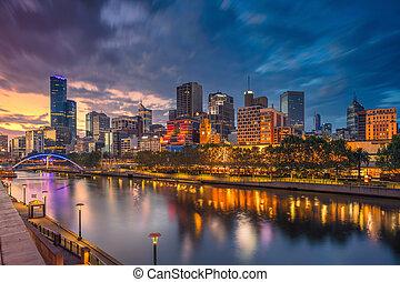 City of Melbourne. - Cityscape image of Melbourne, Australia...