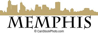 Memphis - City of Memphis high-rise buildings skyline