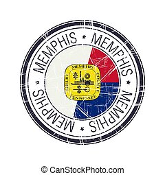 City of Memphis, Tennessee vector stamp