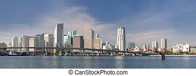 City of Miami Florida panorama