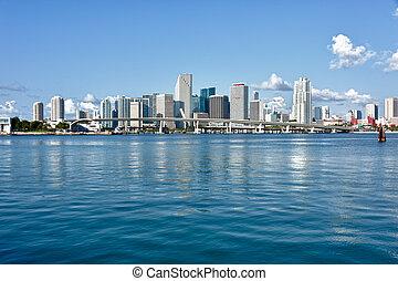 City of Miami Skyline - Miami Downtown skyline in daytime...