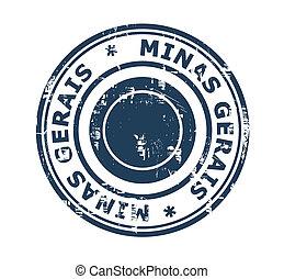 City of Minas Gerais stamp - Grunge stamp of the city Minas...