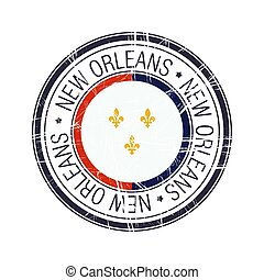 City of New Orleans, Louisiana vector stamp