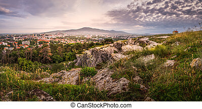 City of Nitra in the Morning as Seen from Calvary