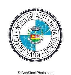 City of Nova Iguacu, Brazil vector stamp