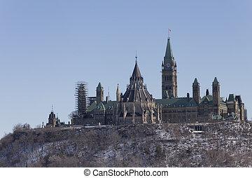 City of Ottawa in winter