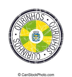 City of Ourinhos, Brazil vector stamp