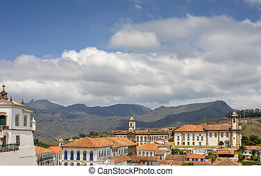 City of Ouro Preto - View of downtown area of the city of...