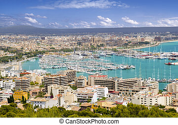 City of Palma de Mallorca in Majorca Balearic island