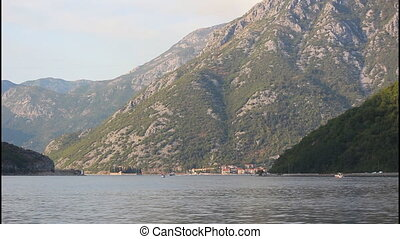 City of Perast, time lapse - Bay of Kotor, old city of...