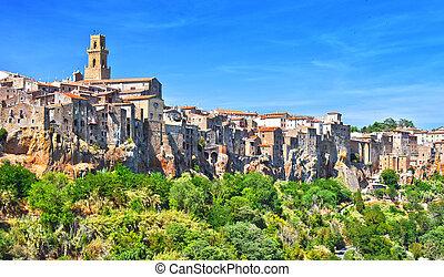 City of Pitigliano in Tuscany, Italy