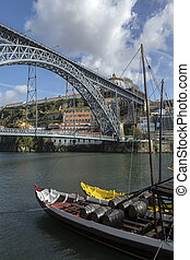 City of Porto - Portugal - Ponte Luis 1st over the River...