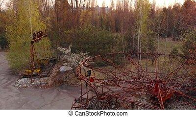 City of Pripyt near Chernobyl nuclear power plant - Rusty...