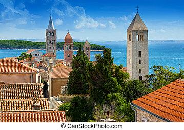City of Rab, Croatia - Beautiful cityscape of Croatia, the...