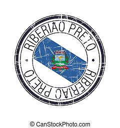 City of Ribeirao Preto, Brazil vector stamp