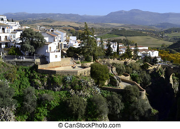 City of Ronda in the mountains