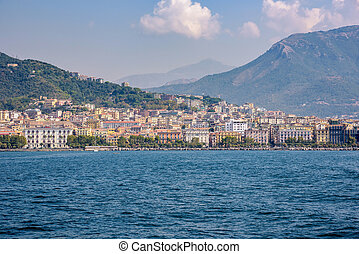 City of Salerno seen from the sea