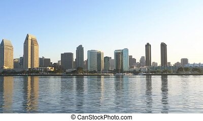 City of San Diego at dawn panorama