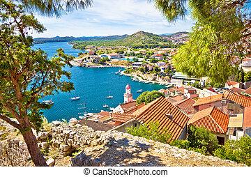 City of Sibenik coast view, Dalmatia, Croatia