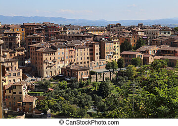 Siena in Tuscany, Italy