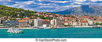 City of Split waterfront panorama