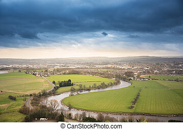 City of Stirling panorama - Scotland, urban photo