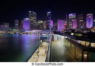 City of Sydney cityscape by Night