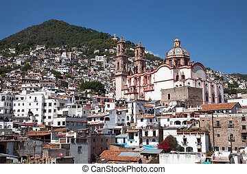 City of Taxco located in the Mexican state of Guerrero -...