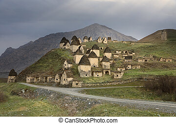 City of the dead in North Ossetia-Alania, Russia