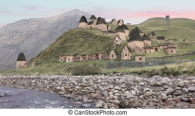City of the dead in North Ossetia-Alania, Russia - Alanian...