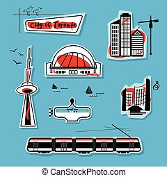 City of Toronto-Abstract city icons