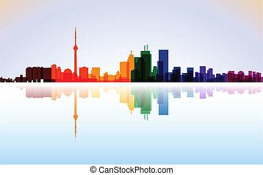 City of Toronto panorama, vector