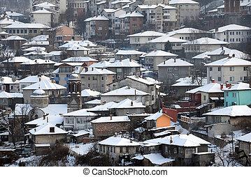 City of Veliko Tarnovo in the Winter