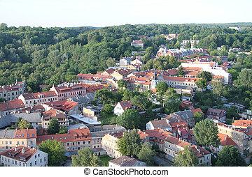 City of Vilnius (Lithuania), aerial view