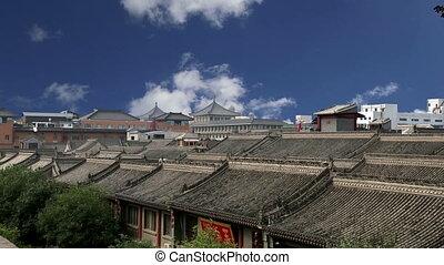 city of Xian, China - View of the city of Xian (Sian,...