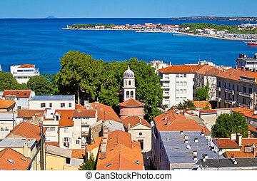 City of Zadar aerial view