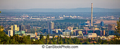 City of Zagreb business district panorama